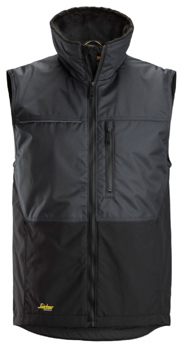 Snickers 4548 AllroundWork Winter Vest (Steel Grey/Black)
